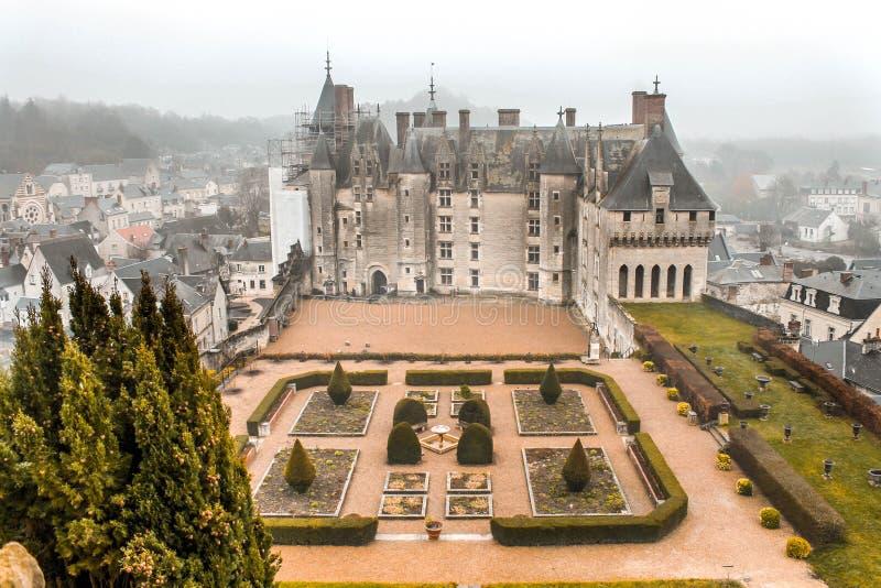 Chateau de Langeais im Loire Valley stockbild