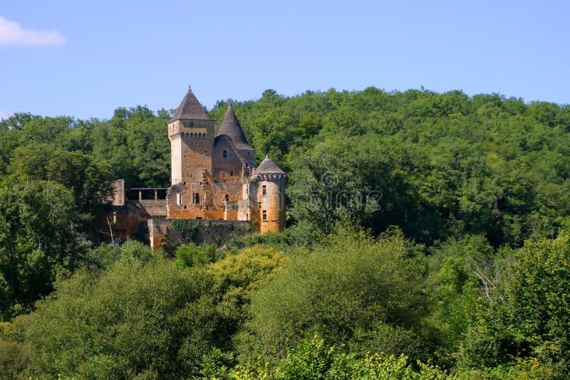 Chateau de Laussel in Dordogne, Aquitaine, Francia immagini stock