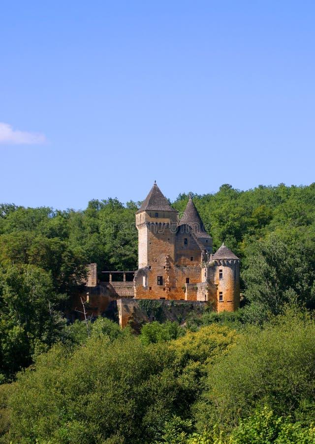 Chateau de Laussel in Dordogne, Aquitaine, Francia fotografie stock