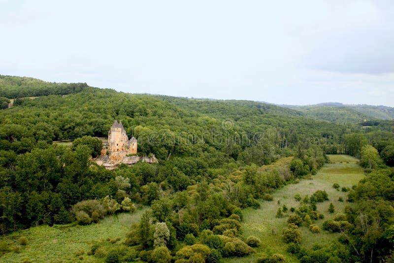 Chateau DE Laussel, Frankrijk royalty-vrije stock afbeelding