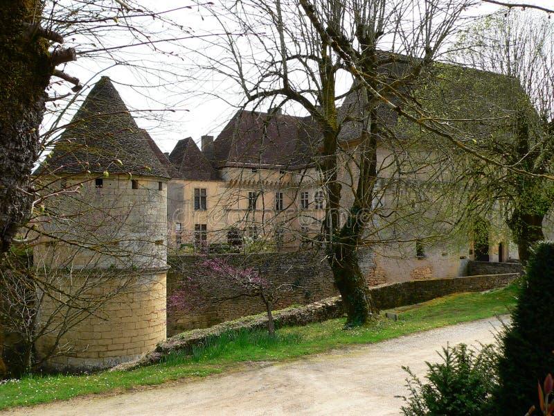 Chateau de Losse, Thonac (Francia) fotografia stock libera da diritti
