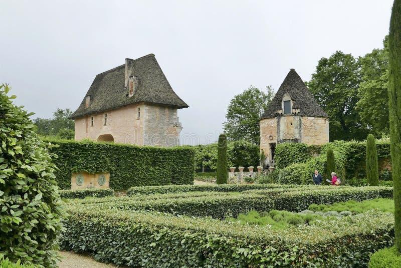 Chateau de Losse a Thonac nella Dordogna fotografie stock libere da diritti