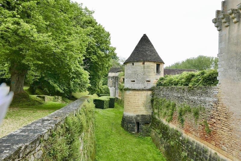Chateau de Losse a Thonac nella Dordogna immagini stock libere da diritti