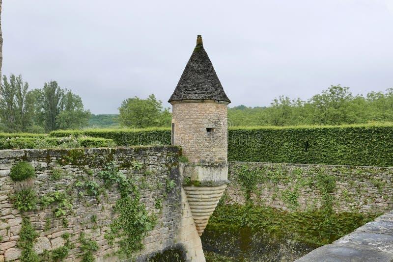 Chateau de Losse a Thonac nella Dordogna fotografie stock