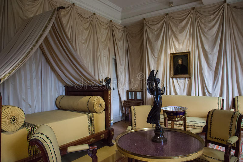 Chateau de Malmaison,法国内部  库存照片