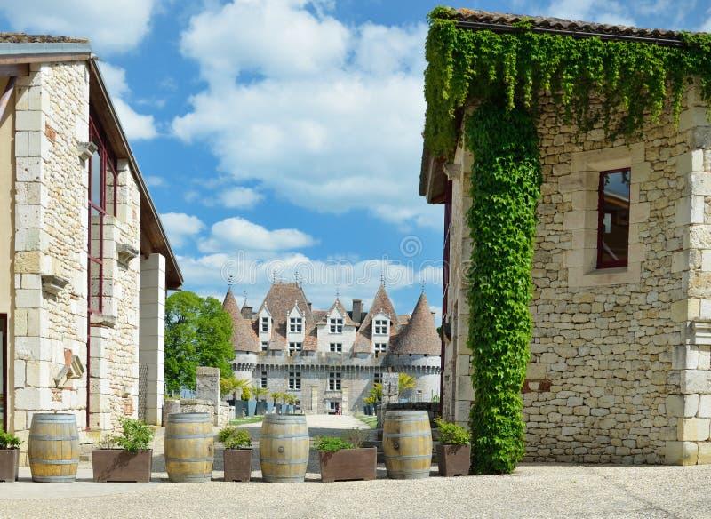 Chateau DE Monbazillac royalty-vrije stock foto's