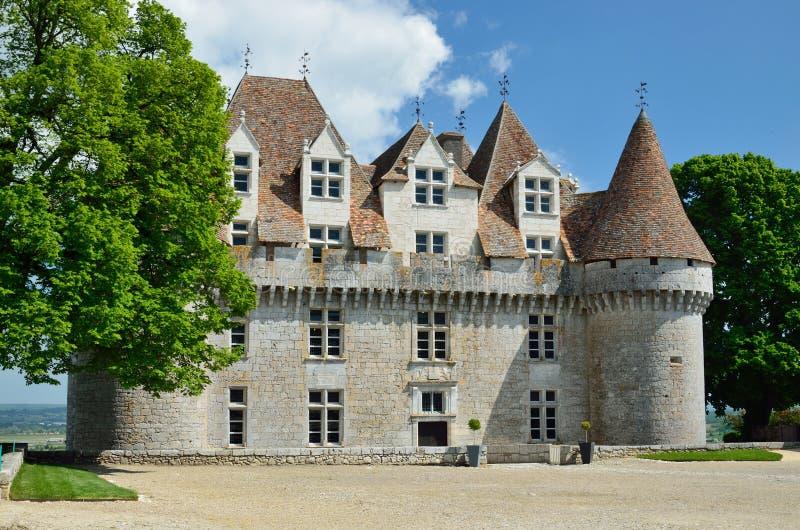 Chateau DE Monbazillac stock afbeelding