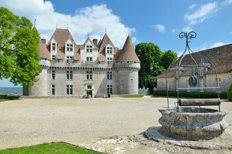 Chateau DE Monbazillac royalty-vrije stock afbeeldingen