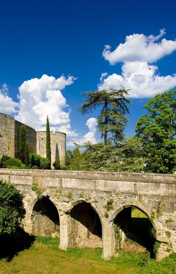 Chateau de Montreuil-Bellay, Pays-de-la-Loire, Francia imagenes de archivo
