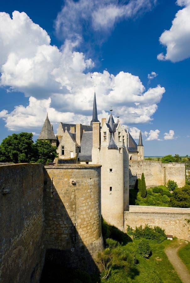 Chateau de Montreuil-Bellay, Pays-de-la-Loire, Frankrike arkivfoto