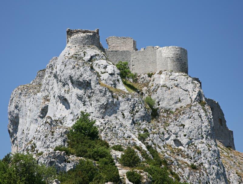 chateau de peyrepertuse 库存图片