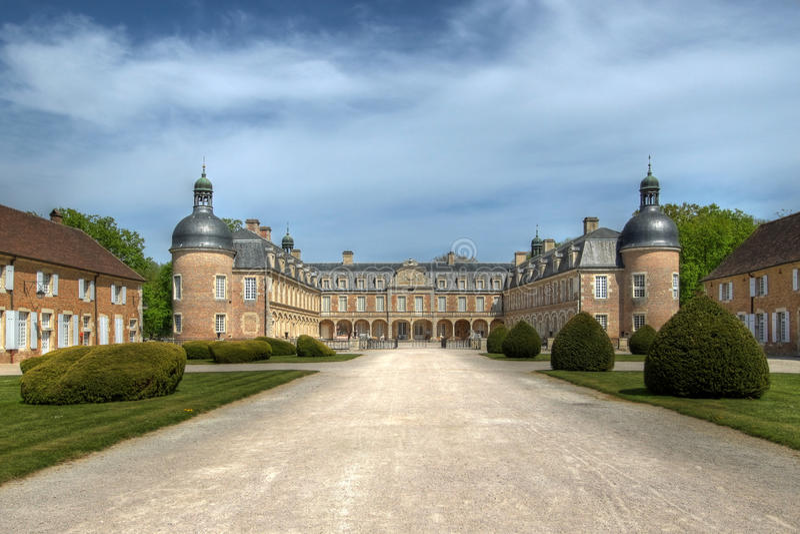 Chateau de Pierre-de-Bresse 02, France stock photography