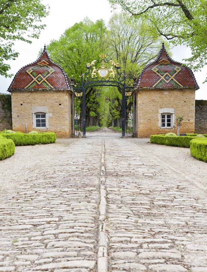 Chateau de Pierreclos en Bourgogne, France image libre de droits