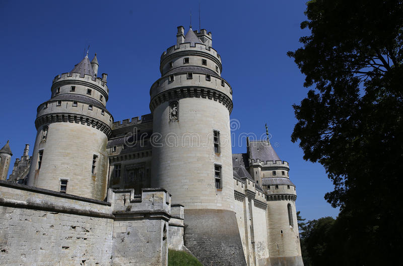 Chateau de Pierrefonds, Pierrefonds, Oise, Francia foto de archivo