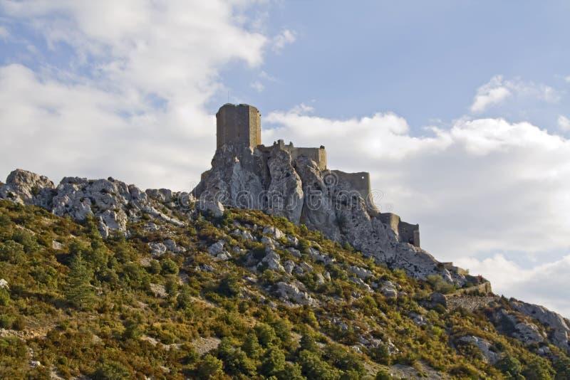 Chateau de Queribus immagine stock libera da diritti