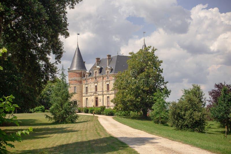 """CHATEAU DE RAYNE VIGNEAU, Bordeaux, France. Château de Rayne-Vigneau is a sweet white wine ranked as Premier Cru Classé French, """" royalty free stock image"""