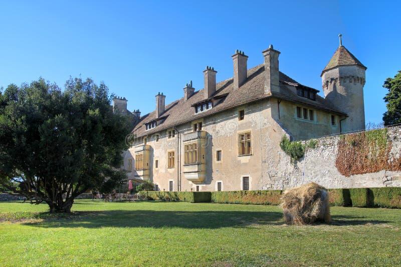 Chateau de Ripaille, Thonon-les-bains, Francia fotografia stock