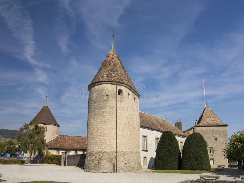 Chateau de Rolle bei Rolle am Geneva See, die Schweiz 2 stockfoto