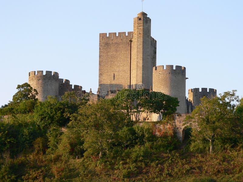 Chateau de Roquetaillade stock photo