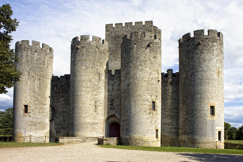 Chateau DE Roquetaillade stock foto's