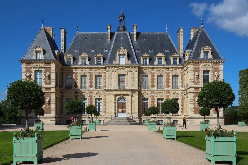Chateau de Sceaux -盛大乡间别墅在Sceaux,上塞纳省,离巴黎不远,法国 免版税图库摄影