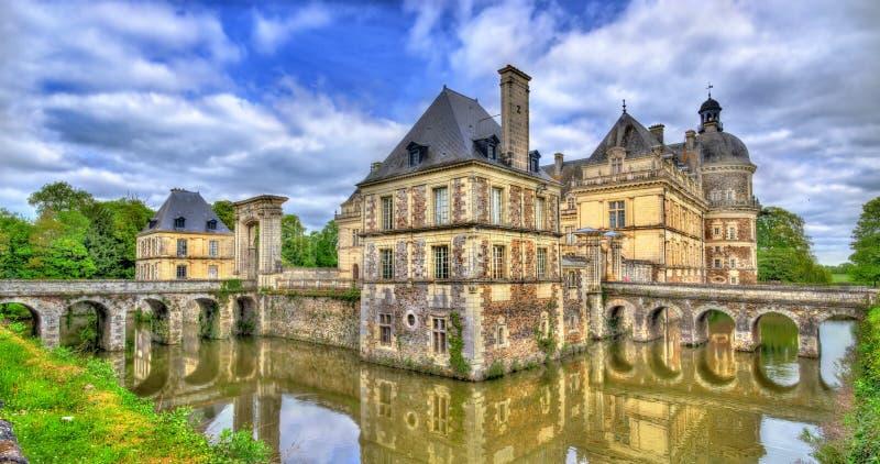 Chateau de Serrant i Loiret Valley, Frankrike arkivbilder