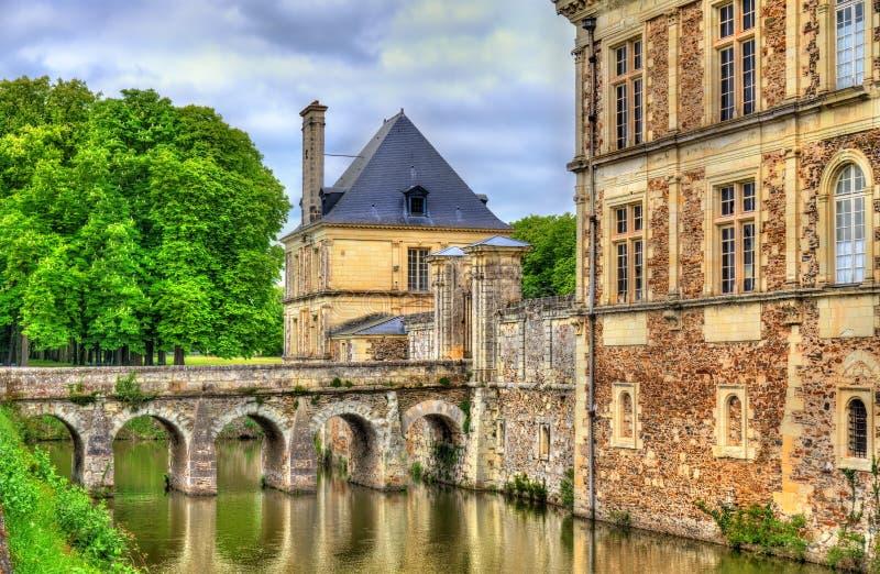 Chateau de Serrant i Loiret Valley, Frankrike royaltyfri foto