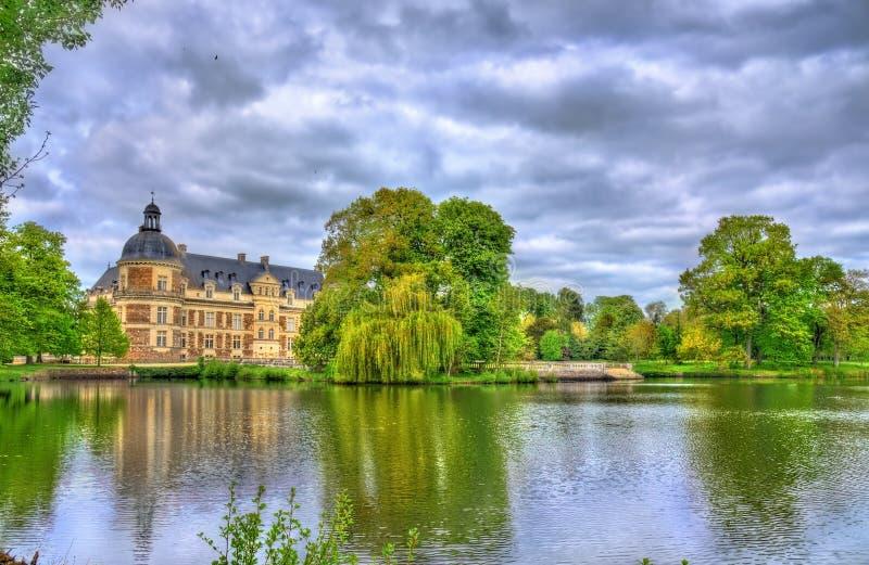 Chateau de Serrant i Loiret Valley, Frankrike royaltyfria foton