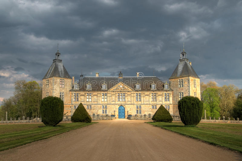 Chateau de Sully 02, Burgundy, France stock photography