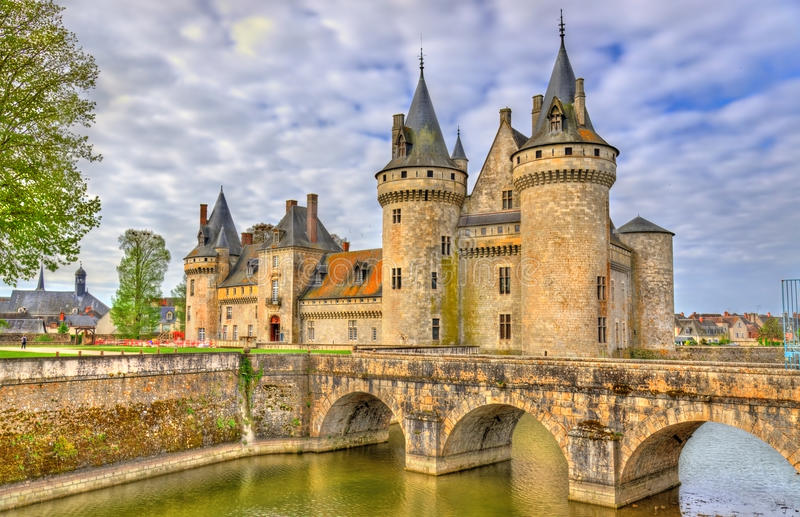 Chateau de Sully-sur-Loire, on of the Loire Valley castles in France stock image