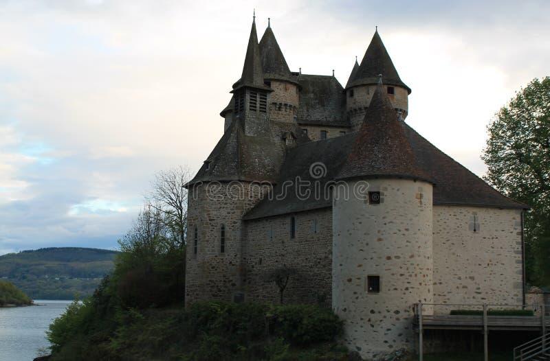 Chateau de Val, Lanobre (法国) 免版税库存照片