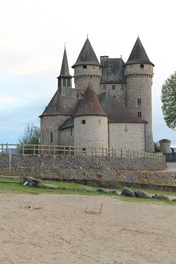 Chateau de Val, Lanobre (法国) 免版税图库摄影