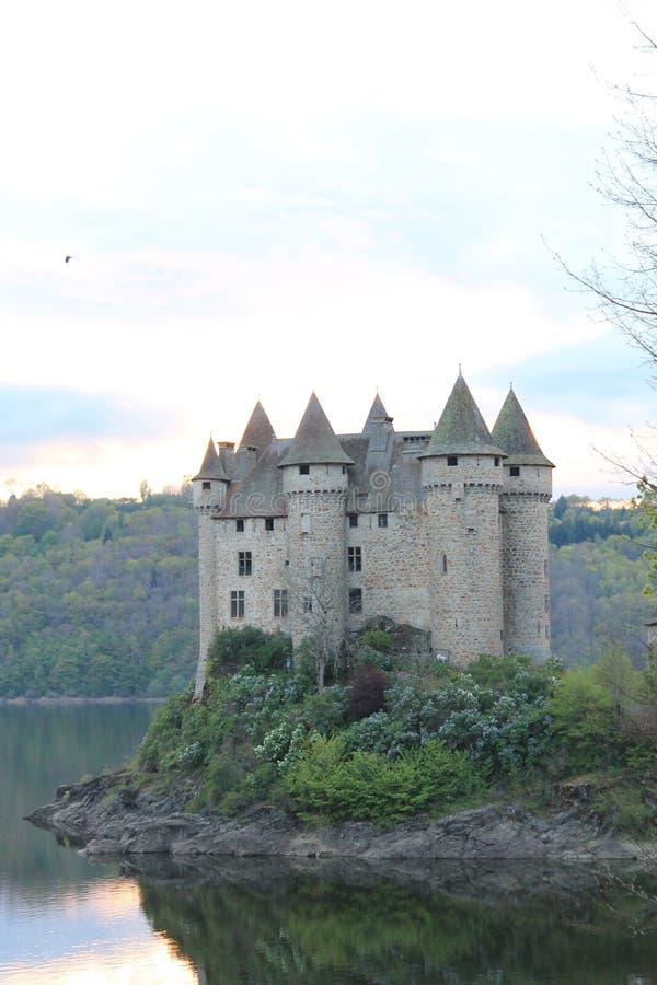 Chateau de Val, Lanobre (法国) 免版税库存图片