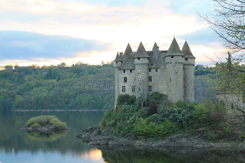 Chateau de Val, Lanobre (法国) 图库摄影