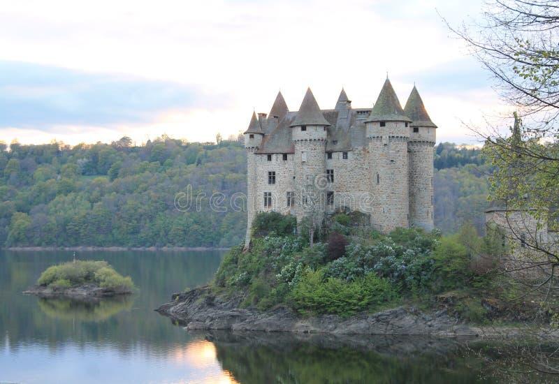 Chateau de Val, Lanobre (法国) 库存照片