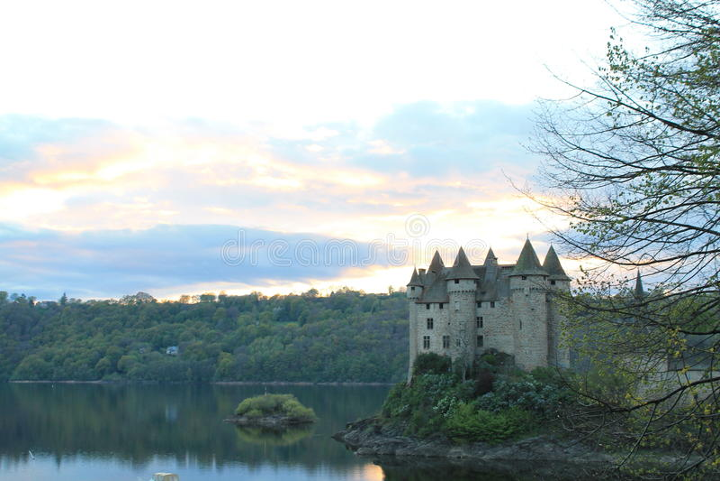 Chateau de Val, Lanobre (法国) 库存图片