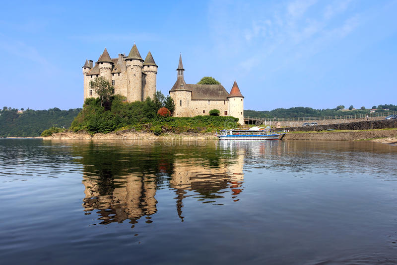 Chateau de Val, Frankrike royaltyfri bild