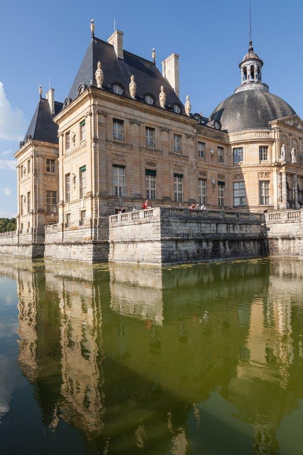 Chateau de Vaux le Vicomte,法国 免版税库存照片