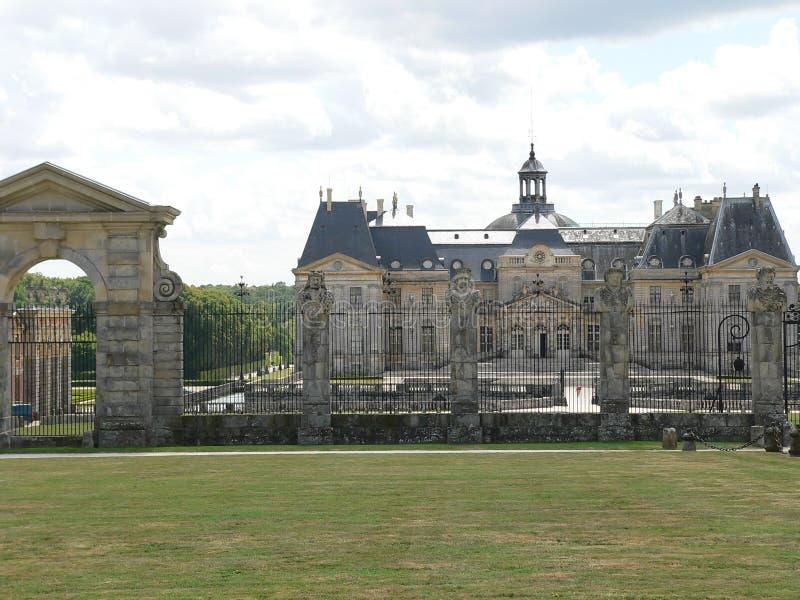 Chateau de Vaux-le-Vicomte, France. French castle of Vaux-le-Vicomte, Maincy (France stock photography