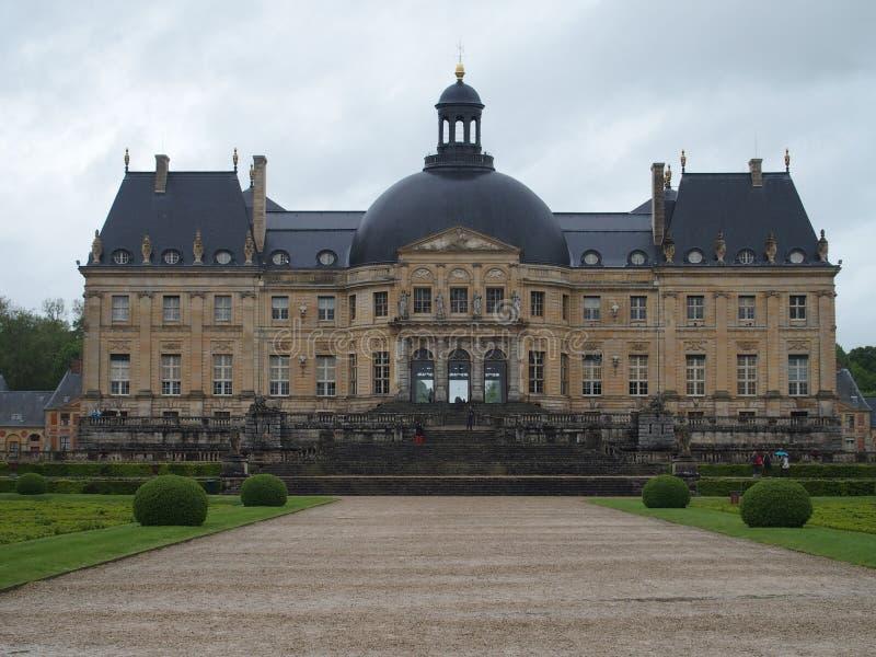 CHATEAU DE VAUX le VICOMTE, voor van grootste privé Frans kasteel bij barokke stijl stock afbeelding