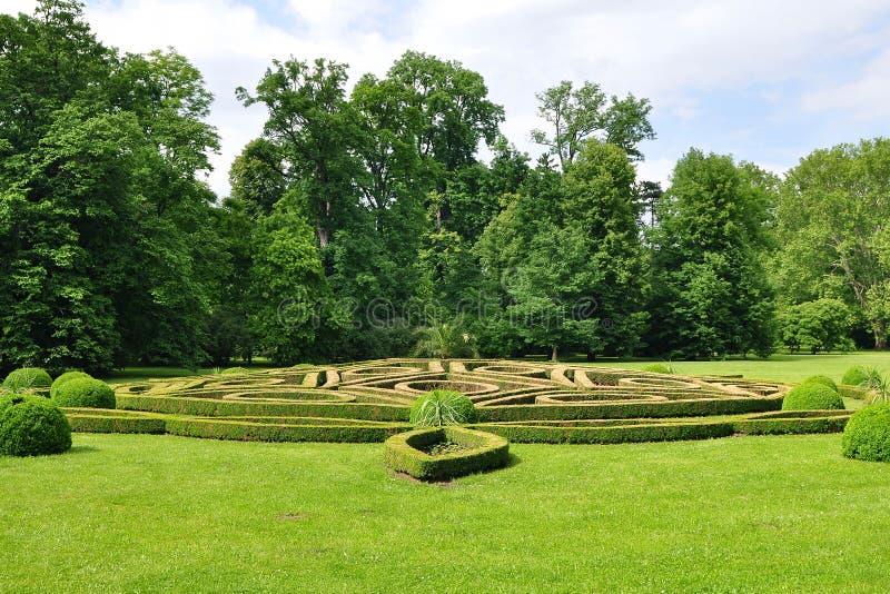 Chateau de Villandry ist ein Schlosspalast, der in Villandry, in der Abteilung des Indre-et-Loire, Frankreich gelegen ist Er ist  stockbild