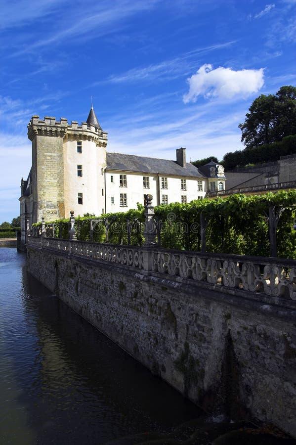 Chateau de Villandry, Loire, France. Chateau de Villandry and surrounding water, Loire, France royalty free stock photo