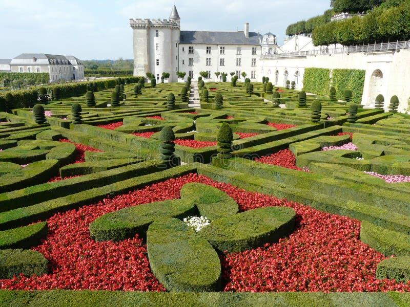 chateau de villandry trädgård arkivfoton