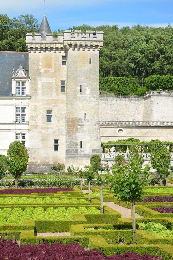 Chateau De Villandry/Villandry slott royaltyfri fotografi