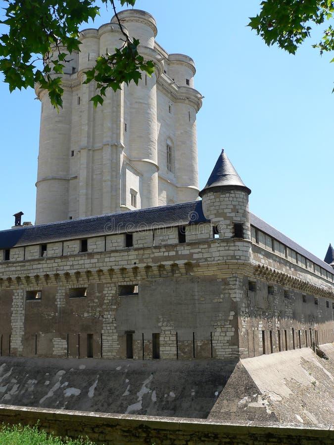 Chateau de Vincennes ( France ). View of Donjon inside the Château de Vincennes, Val-de-Marne (France royalty free stock images