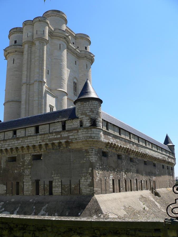 Chateau de Vincennes ( France ). View of Donjon inside the Château de Vincennes, Val-de-Marne (France stock image