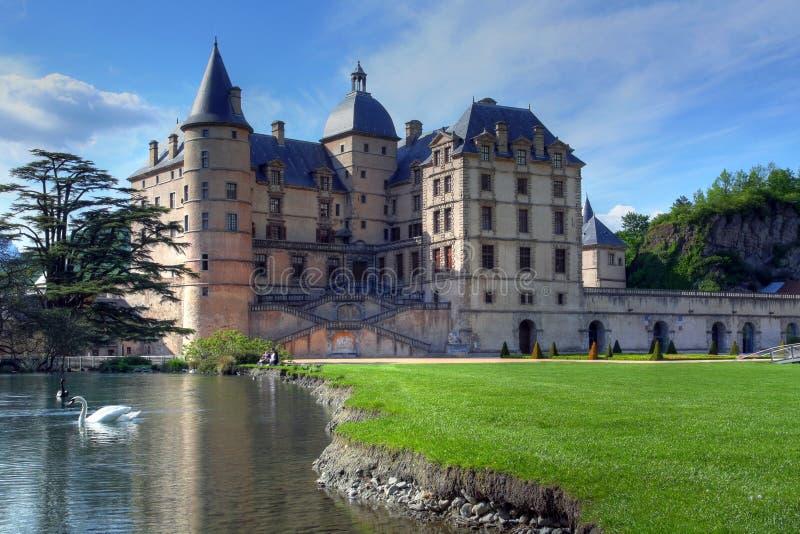 Chateau de Vizille, vicino a Grenoble, la Francia fotografie stock libere da diritti