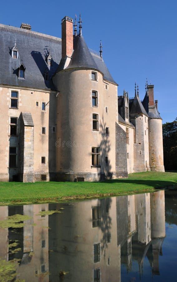 Chateau di Meillant fotografia stock