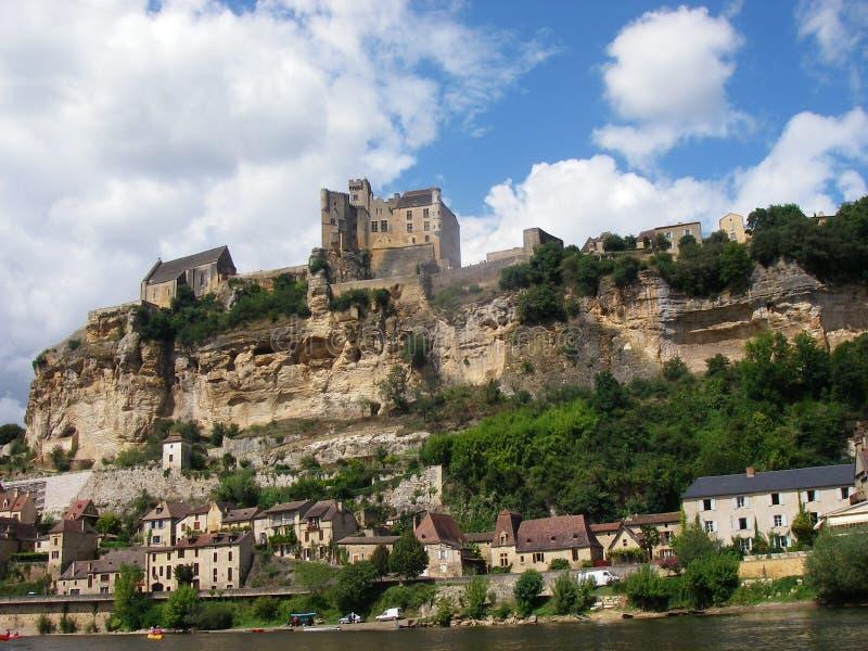 Chateau in Dordogne, Frankrijk royalty-vrije stock afbeelding