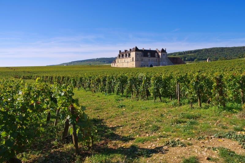 Chateau du Clos de Vougeot, ` de Cote d o, Borgoña imagen de archivo